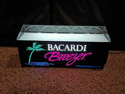 Vintage 90's Bacardi Breezer Rum Refresher Illuminated Bottle Display Sign Light
