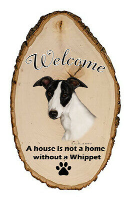 Outdoor Welcome Sign (TB) - Black and White Whippet 51062