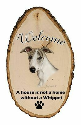 Outdoor Welcome Sign (TB) - Fawn Brindle Whippet 51919