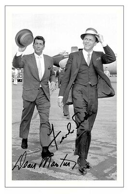 Frank Sinatra & Dean Martin Signed Autograph Photo Print
