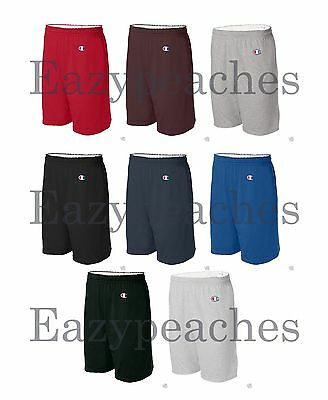 """Champion Mens 9"""" Inseam Athletic Cotton Jersey Gym Shorts with Pocket C-8180"""
