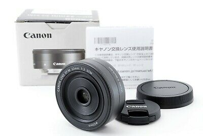 Canon EF-M 22mm F/2 STM Lens from japan [Exc+++] #574030A