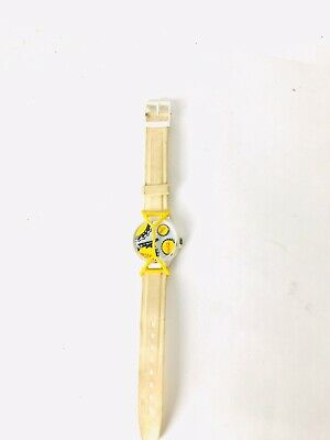 Vintage 1980's Coca Cola Yellow & Black Swatch Watch. One Owner.Free Shipping.