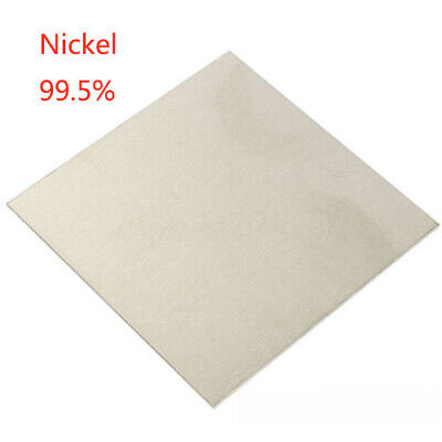 """99.5% Nickel Ni Sheet Plate For Electroplating Anode 2""""x2"""" Element 1.5mm US"""