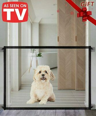 Retractable Pet Dog Gate Safety Guard Folding Baby Stair Gate Isolation NEW