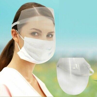 Face Visor Safety Mask PPE Shield Protection Cover Reusable Plastic Guard