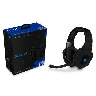 Playstation 4 Premium Gaming Headset + Mic * Stealth Pro4-80 Black Ps4 Pc * New