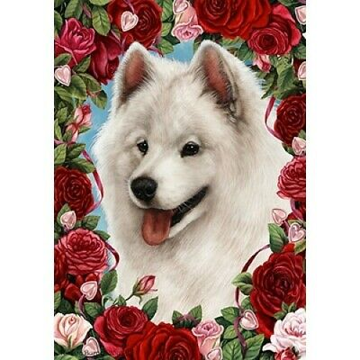 Roses House Flag - Samoyed 19077
