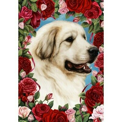 Roses House Flag - Great Pyrenees 19146