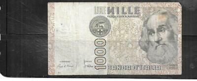 ITALY #109a 1982 VG USED 1000 LIRE OLD BANKNOTE PAPER MONEY CURRENCY NOTE #2