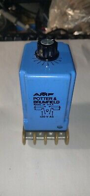 Potter & Brumfield Variable Time Delay Relay & Socket .01-1 Minute
