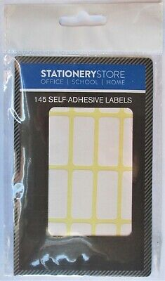 145 White Sticky Self Adhesive Stickers Labels Tags File Jar Blank Plain Files