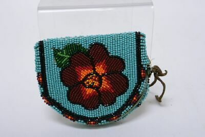 Plateau Indian  Beaded Coin Purse  Mid 20th century
