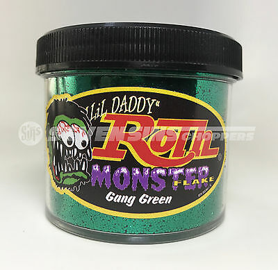 Roth Flake Monster Gang Green Red Chopper Hotrod Metalflake Sparkle Paint