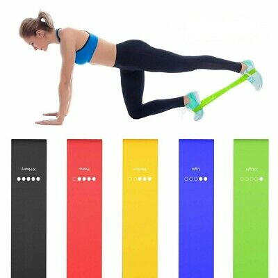 Single Resistance Loop Bands For Home Workout Gym Exercise Glutes Yoga Pilates
