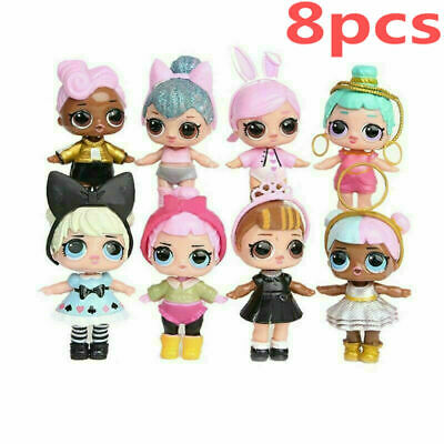 8pcs New LOL Surprise Doll Blind Mystery Toy PVC Figure Xmas Gift For Kids girls