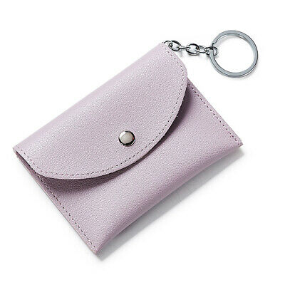 Aspire Leather Coin Purse Wallet Card Case Holder with Key Ring