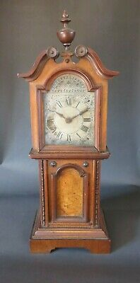 Antique Mahogany Miniature Grandfather Clock