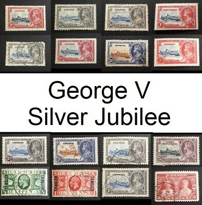 1935 KGV Silver Jubilee British Colonies & Territories Stamps - Lots to See