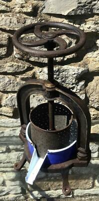 Old CAST IRON FRUIT PRESS Working With Original Bowl GREAT INDUSTRIAL LOOK