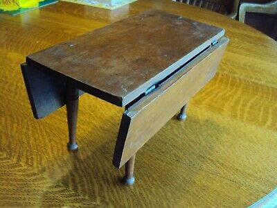 Antique child's cherry wooden table VERY OLD 1800's Primitive