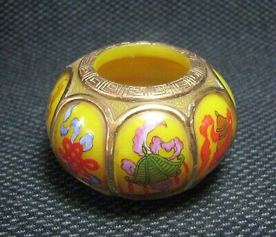 Chinese Glass Delicate Hand Painted Eight treasures Design Water pan