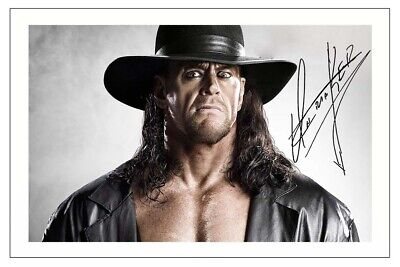 The Undertaker Signed Autograph Photo Print Wwe Wrestling