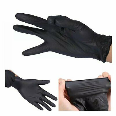 Black Nitrile Powder and Latex Free Disposable 100 Gloves per Box SMALL SIZE