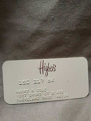VINTAGE  CHARGE PLATE CREDIT CARD  Higbees  dept store collactable