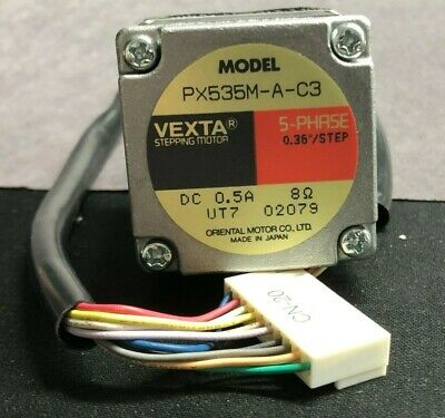 VEXTA 5-Phase Stepping Motor PX535M-A-C3 DC 0.5A, 0.36°/STEP