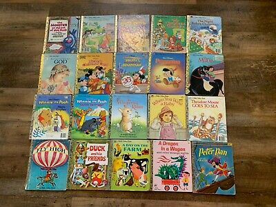 Lot Of 20 Vintage To Newer Little Golden Books Hardcover No Duplicates