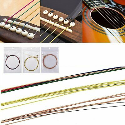 Full set Guitar Strings Replacement Copper Alloy Steel for Acoustic Classical UK