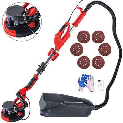 Drywall Sander 750W 225mm Flodable Handle 5 Speed w/ LED light and Vacuum Bag