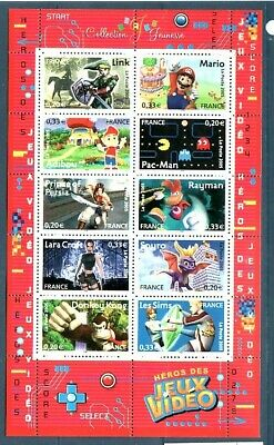 FRANCE Sc 3155 NH MINISHEET of 2005 - VIDEO GAME CHARACTERS