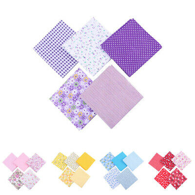 5x DIY 50*50cm Mixed Pattern Cotton Fabric Sewing Quilting Patchwork Crafts