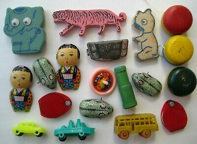 VINTAGE Old MINIATURE TOY Lot Made in Japan Tin~Celluloid~Plastic~Wood