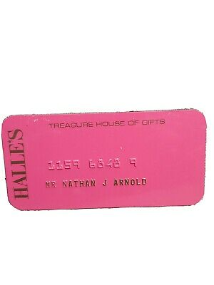 Halle's Dept Store Credit Card Charge Plate Vintage Collectable  Rare Find