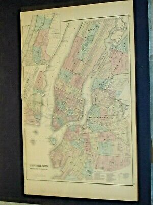 City Of New York 1878 Map From Grey's Atlas.