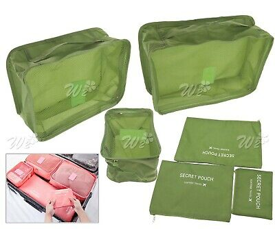 6PCS Cube Storage Bag Travel Luggage Organizer Suitcase