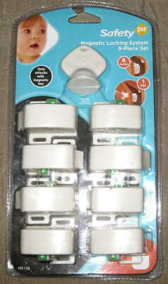 SAFETY FIRST MAGNETIC LOCKING SYSTEM 9 Piece Set with Key 1st Cabinet Drawer