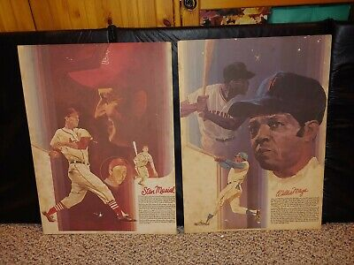 2 Vintage 70's Coca-Cola Baseball Greats Posters Poster,Willie Mays,Stan Musial