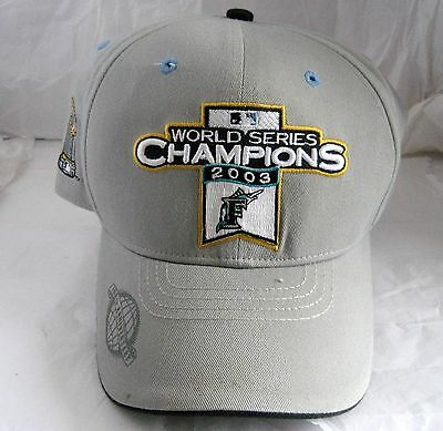 Florida Marlins World Series Champions Cap Hat Fish Logo 2003