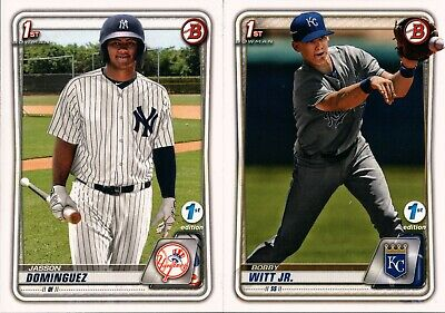 2020 Bowman 1St First Edition Base Prospect Rc Singles #1-150 - You Pick For Set