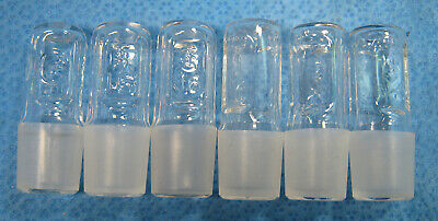 Pyrex  Hollow  Glass  Stoppers  #16  X6  Free  Shipping