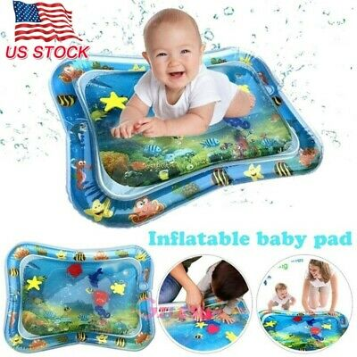 Large Baby Water Mat Tummy Time Inflatable Play Mat Floor Activity Gym Crawling