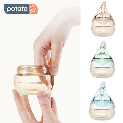 USA 2PCS Newborn Baby Bottles Breast Milk Anti Colic PPSU Baby Bottle Feeding