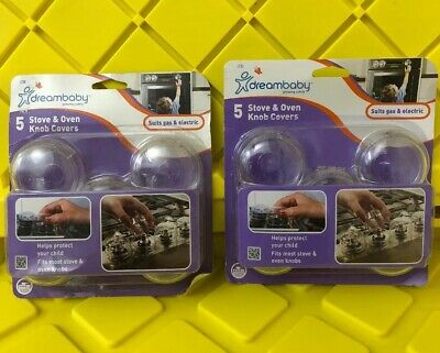 10 Kids Toddler Safety Stove Gas Oven Knob Covers Protector ~ New
