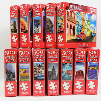 UK 500 Pieces Educational Jigsaw Puzzle Animal Landscape Adult Puzzles Kids Toy