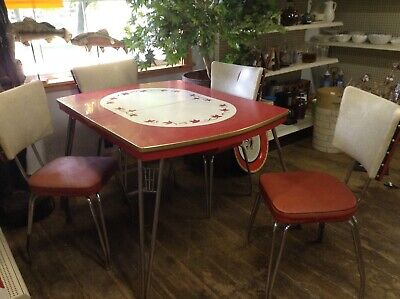 1950's Formica dinner table w/4 chairs and Insert