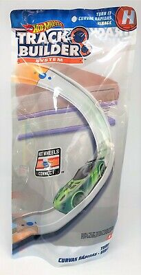 Hot Wheels Track Builder System Turn It Curve Curved Connect H Part Accessory